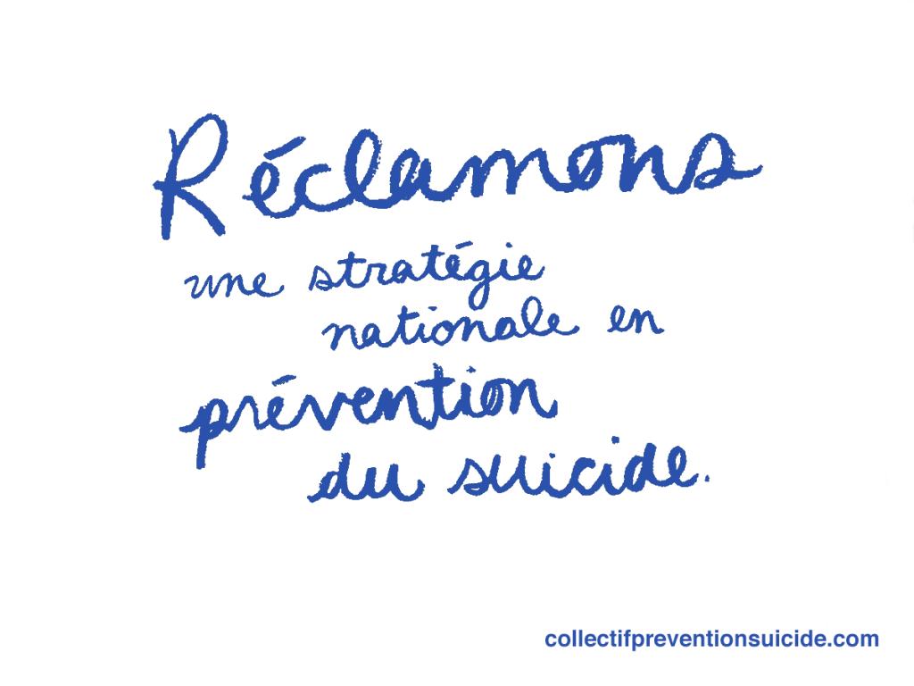 Mobilisation pour le collectif en prévention du suicide